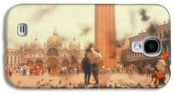 Flock Of Pigeons Flying, St. Marks Galaxy S4 Case by Panoramic Images
