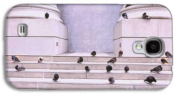 Flock Of Pigeons On Steps, San Galaxy S4 Case by Panoramic Images