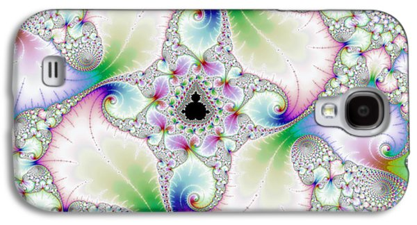 Floral Abstract Art With Bright Pastel Colors Galaxy S4 Case