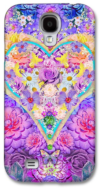 Floral Heart Springtime Galaxy S4 Case by Alixandra Mullins