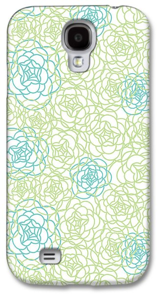 Floral Lines Galaxy S4 Case by Susan Claire