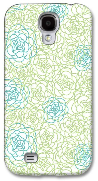 Floral Lines Galaxy S4 Case