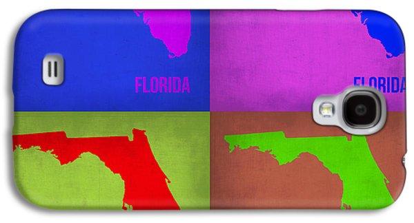 Florida Pop Art Map 1 Galaxy S4 Case by Naxart Studio