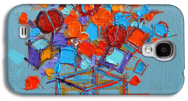 Flower Cube Galaxy S4 Case by Mona Edulesco