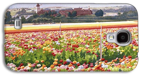 Flower Fields In Carlsbad 1992 Galaxy S4 Case