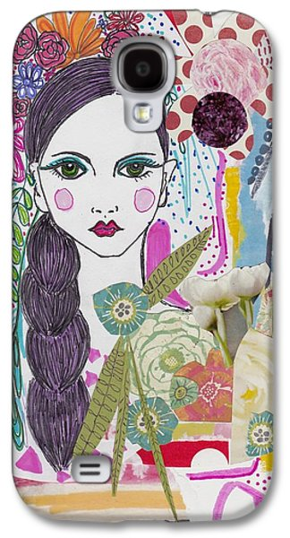Flower Girl Collage Galaxy S4 Case by Rosalina Bojadschijew