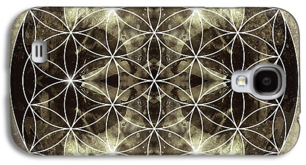 Flower Of Life Silver Galaxy S4 Case by Filippo B