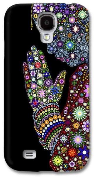 Flower Prayer Girl Galaxy S4 Case by Tim Gainey