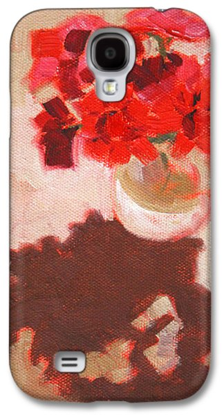 Flower Shadows Still Life Galaxy S4 Case by Nancy Merkle