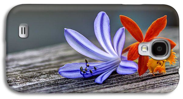 Flowers Of Blue And Orange Galaxy S4 Case by Marvin Spates