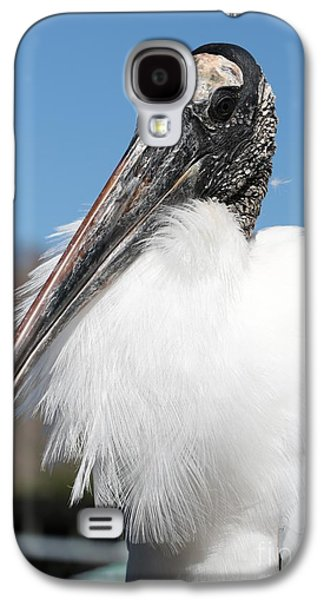 Fluffy Wood Stork Galaxy S4 Case by Carol Groenen