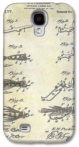 1922 Fly Fishing Lure Patent Drawing Galaxy S4 Case