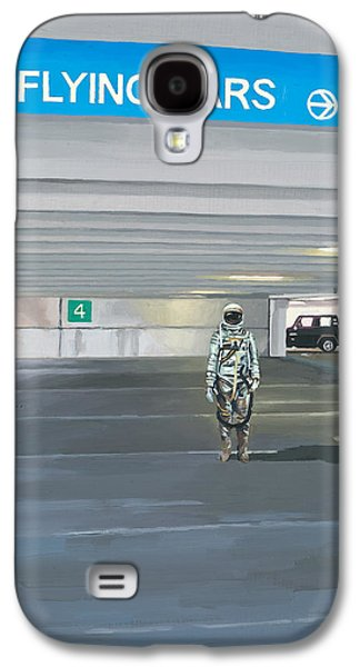Flying Cars To The Right Galaxy S4 Case by Scott Listfield