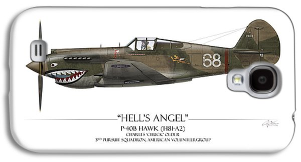 Flying Tiger P-40 Warhawk - White Background Galaxy S4 Case