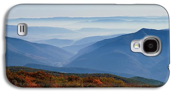 Fog Over Hills, Dolly Sods Wilderness Galaxy S4 Case by Panoramic Images