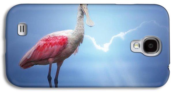 Foggy Morning Spoonbill Galaxy S4 Case by Mark Andrew Thomas