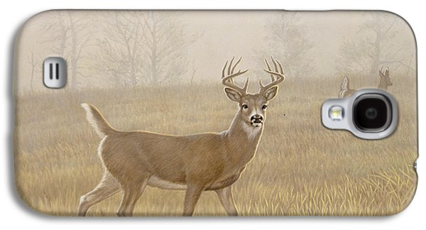 Foggy Morning-whitetail Galaxy S4 Case by Paul Krapf