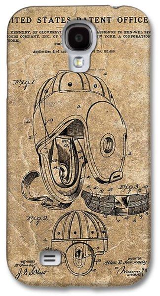 Football Helmet Patent Vintage Galaxy S4 Case by Dan Sproul