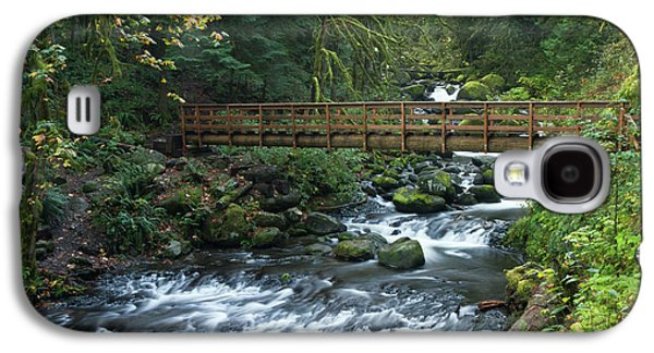 Footbridge Across Oneonta Creek Galaxy S4 Case by William Sutton