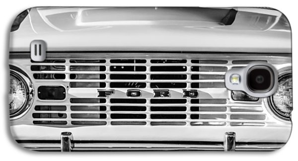 Ford Bronco Grille Emblem -0014bw Galaxy S4 Case by Jill Reger