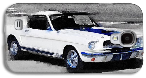 Ford Mustang Shelby Watercolor Galaxy S4 Case by Naxart Studio