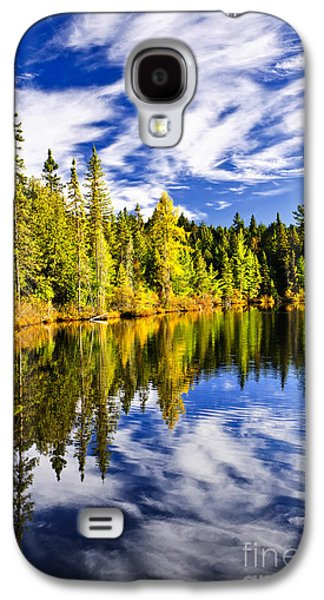 Forest And Sky Reflecting In Lake Galaxy S4 Case by Elena Elisseeva