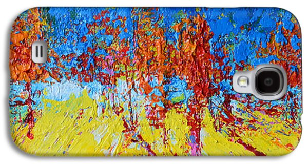 Tree Forest 2 Modern Impressionist Landscape Painting Palette Knife Work Galaxy S4 Case