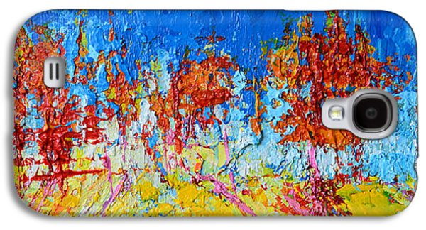 Tree Forest 3 Modern Impressionist Landscape Painting Palette Knife Work Galaxy S4 Case