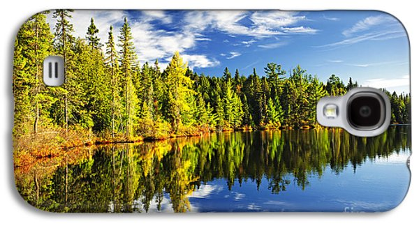 Landscapes Galaxy S4 Case - Forest Reflecting In Lake by Elena Elisseeva