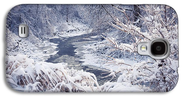 Forest River In Winter Snow Galaxy S4 Case by Elena Elisseeva