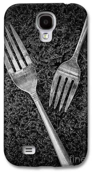 Fork Still Life Black And White Galaxy S4 Case by Edward Fielding