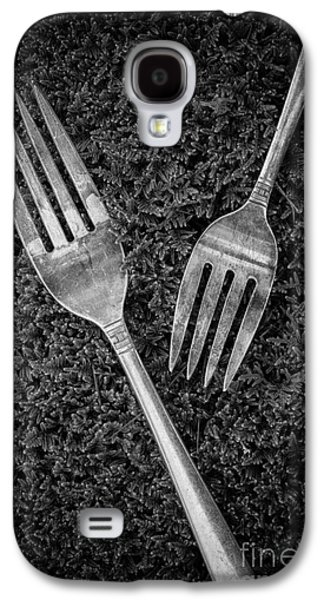 Fork Still Life Black And White Galaxy S4 Case