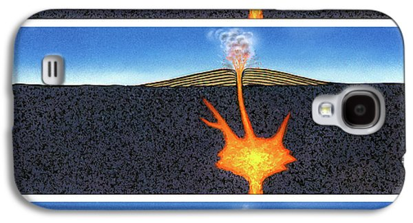 Formation Of A Volcano Galaxy S4 Case by David A. Hardy