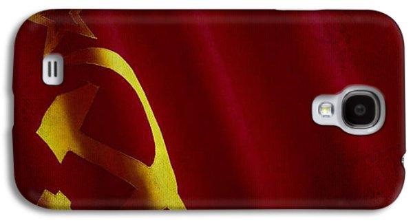 Former Ussr Flag Waving On Canvas Galaxy S4 Case by Eti Reid