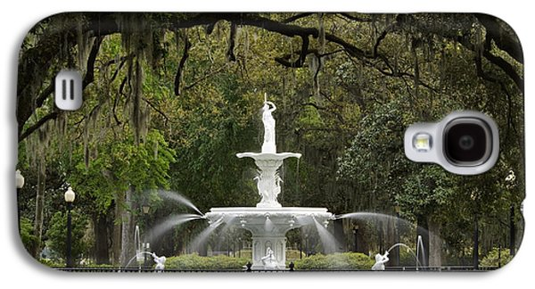 Forsyth Park Fountain - D002615 Galaxy S4 Case by Daniel Dempster