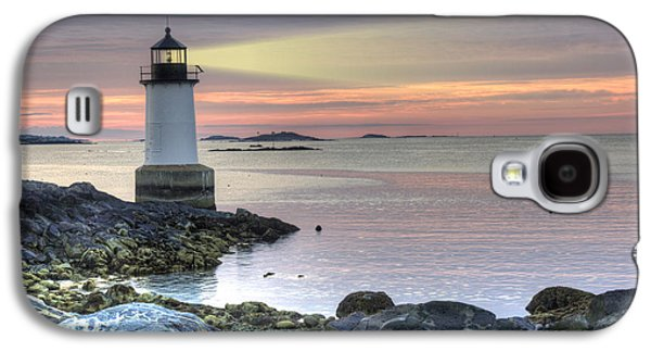 Fort Pickering Lighthouse At Sunrise Galaxy S4 Case by Juli Scalzi
