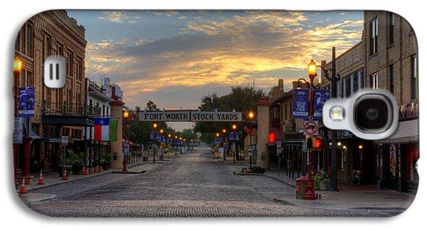 Fort Worth Stockyards Sunrise Galaxy S4 Case by Jonathan Davison