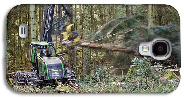 Forwarder Forestry Vehicle Galaxy S4 Case by Ashley Cooper