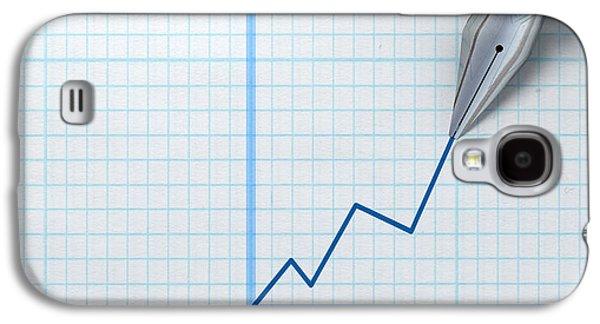 Fountain Pen Drawing Increasing Graph Galaxy S4 Case