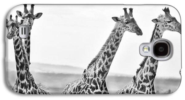 Four Giraffes Galaxy S4 Case by Adam Romanowicz