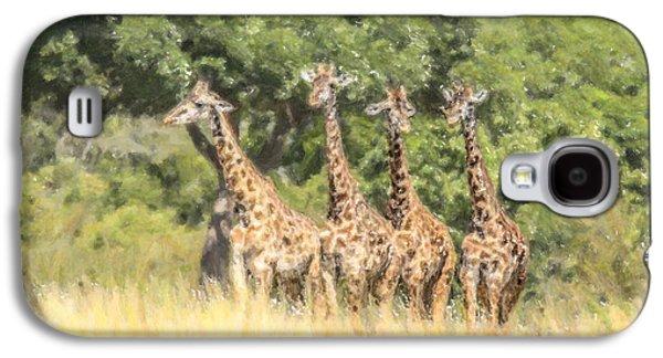 Four Masai Giraffes Masai Mara Kenya Galaxy S4 Case