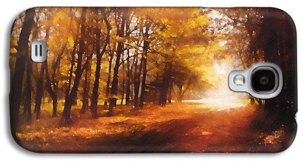Four Seasons Autumn Impressions At Dawn Galaxy S4 Case by Georgiana Romanovna
