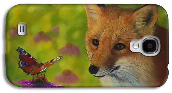 Fox And Butterfly Galaxy S4 Case