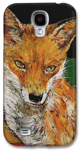Red Fox Galaxy S4 Case by Michael Creese