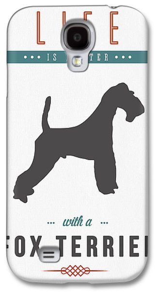 Fox Terrier 01 Galaxy S4 Case by Aged Pixel