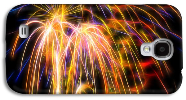 Galaxy S4 Case featuring the photograph Colorful Fractal Fireworks #1 by Yulia Kazansky