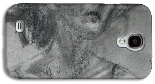 Gathering Strength - Original Charcoal Drawing - Contemporary Impressionist Art Galaxy S4 Case by Quin Sweetman