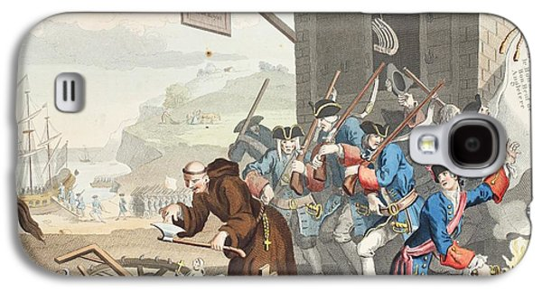 France, Illustration From Hogarth Galaxy S4 Case by William Hogarth