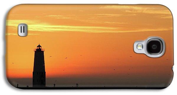 Frankfort North Breakwater Lighthouse Galaxy S4 Case by Adam Romanowicz