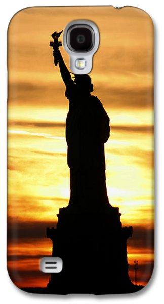 Statue Of Liberty Silhouette Galaxy S4 Case